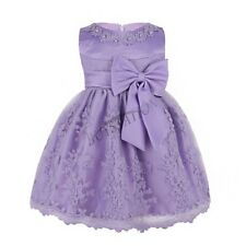 Pageant Girls Infant Baby Princess Dress Bow Gown Wedding Bridesmaid Party Dress