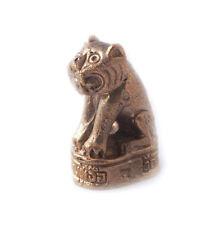 Vietguild's Thai Sitting Tiger Bronze Figurine Statue Amulet