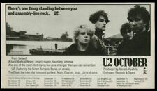 1981 U2 photo October album release vintage print ad