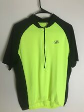 Performance Cycling Short Sleeve Jersey Half-Zip Mens L Large Neon Yellow