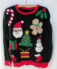 Vintage  Ugly Tacky Gaudy Christmas Sweater Womens Top 42 chest