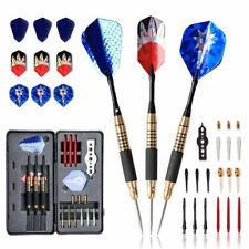 22pcs PET Metal Darts Pro Set Darts Flights Dart Tip Point with Case For Playing
