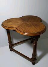 Vintage Solid Wood Clover Leaf Top Table - Oak Wood - English Style