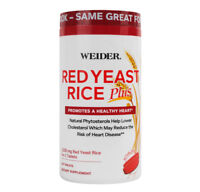 Weider Red Yeast Rice Plus - 1200mg dose 240 Tablets - Natural Phytosterols