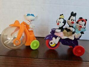 2 X McDonald's Animaniacs Happy Meal Toys Warner Bros 1993 Vintage Lot Set1 Used