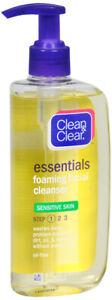 Clean & Clear Essentials Foaming Facial Cleanser Sensitive Skin 8 Ounce