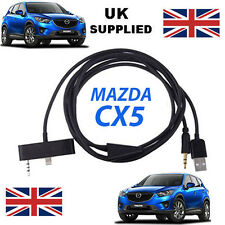 MAZDA CX5 Series iPhone 5 5C 5S USB & Aux Replacement Cable in black