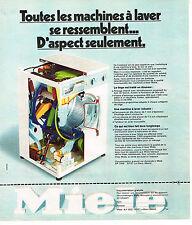 PUBLICITE  1975   MIELE   lave linge machine à laver