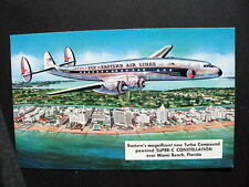 EASTERN AIR LINES SUPER CONSTELLATION OVER MIAMI