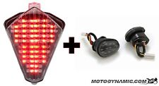 07-08 Yamaha R1 SEQUENTIAL LED Tail Light CLEAR + Flush Mount Turn Signals COMBO