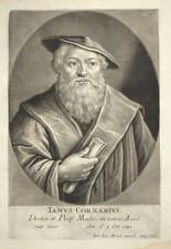 1747 Ianus Cornarius Janus Cornarius schabkunst Portrait de Haid