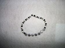 Oakland raiders beaded bracelet