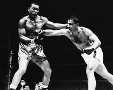 1951 Boxers Joe Louis vs Rocky Marciano Glossy 8x10 Photo Heavyweight Poster