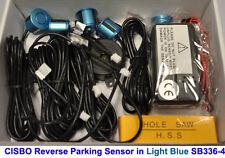 Luz Color Azul Reverso parking cuatro Sensor ayuda Kit Con Audio Zumbador Alarma