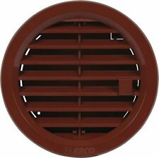 """Hit&Miss Circle Air Vent Grille Cover Ø100mm(4"""") Ducting BROWN Ventilation Cover"""