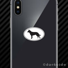 (2x) Australian Cattle Dog Euro Oval Cell Phone Sticker Mobile dog canine pet