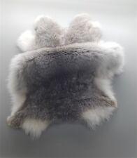 3pcs Genuine Gray Rabbit Fur Tanned Skin Color Natural Fur Crafts Decoration