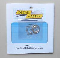 FURY SKULL BILLET STEERING WHEEL 1:24 1:25 DETAIL MASTER CAR MODEL PART 3124