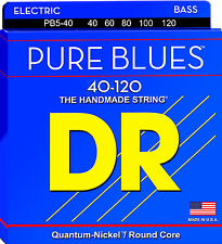 DR Strings PB5-40 PURE BLUES Bass Guitar Strings - Light - 5-String Set