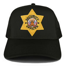 Security Officer Gold Star Badge Embroidered Iron on Patch Adjustable Mesh Cap