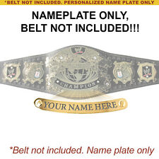 Personalized Nameplate for Adult WWE Undisputed V1 Championship Replica Belt