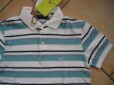 (h905) rayas etro Milano Boys camisa de polo camisa con logotipo bordado gr.128