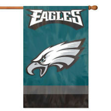 PHILADELPHIA EAGLES House Banner Flag PREMIUM Outdoor DOUBLE SIDED Embroidered