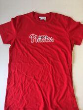 PHILADELPHIA PHILLIES MLB WOMEN'S L SWAROVSKI RED SHORT SLEEVE  FREE SHIPPING!