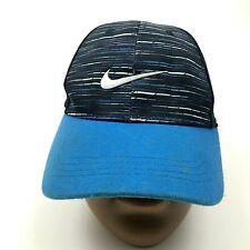 Nike Hat Baseball Cap Youth Size 4 - 7 Blue Snapback Adjustable Dry Fit Swoosh