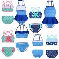 Kids Baby Girls 2PCS Bathing Suit Swimwear Bikini Set Tankini Swimsuit Beachwear