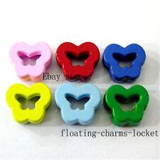 5pcs lot 8mm Butterfly  Slider Charms for DIY Bracelet/Pet Collar