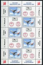 Österreich 2606 postfrisch KB Kleinbogen Tag der Briefmarke 2006 Flugzeug MNH