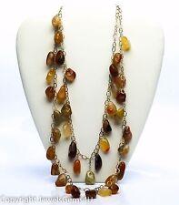ANN HAND Carnelian Set Necklace Bracelet Earrings w/Pouch/Box