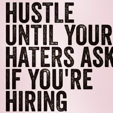 "3"" Pink Hustle Haters Boss Babe Worker Quote Motivation Got This Sticker"