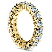 Eternity Diamond Band 2 Carat Round Cut H/SI1 Anniversary Ring 14K Yellow Gold