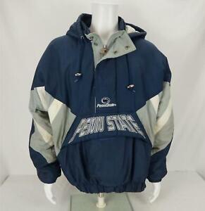 Vintage Starter Penn State Nittany Lions Hooded Pullover Jacket Blue Men's Large