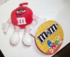 M&m's Plush Backpack Clip Red 2007 With Labels RARE in UK - Was Overseas