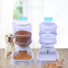 Cy_ 3.8L Large Automatic Pet Food Drink Dispenser Dog Cat Feeder Water Bowl Eyef
