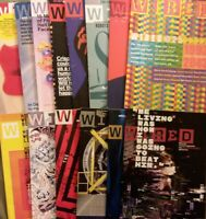 13x Wired Magazine LOT Dec 2017 thru July/Aug 2019 GOOD free shipping