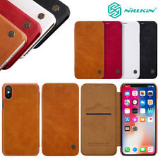 Genuine NILLKIN Leather Wallet Card Case Flip Cover For iPhone 12 11 Pro XS XR 8