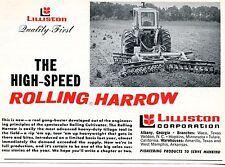 1970 Print Ad of Lilliston Corp Farm Tractor High Speed Rolling Harrow