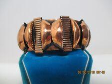 "Vintage Art Modern Copper Cuff Bangle Bracelet 1"" wide"