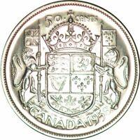 1958 Dot Canada 50 Cents Gorgeous Ch/Gem BU Collector Coin! - d583uuhh