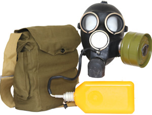 Gas Mask GP-7V Kit Soviet Russian with flask NEW VINTAGE WW2 RETRO vintage funy