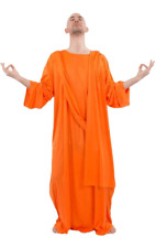 Orion Costumes Mens Orange Buddhist Monk Robe Religious Fancy Dress Costume