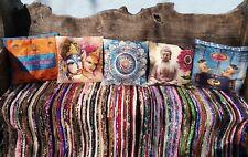 Funky Colourful Indian Style Cushion Covers, Om, Mandala, Elephant, Buddha