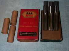 New listing Vintage~Winter Brothers Co 3 Brand New 3/4-10 Nc 4Flt Bottom Taps~In Box~Collect