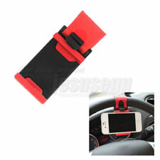 Mobile Phone GPS Holder Steering Wheel Clip Mount  Cradle Stand Universal Fit