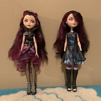 Two Raven Queen Ever After High Dolls Mattel One Has Hand Missing Purple Black