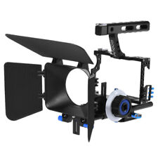 DSLR Rig Video Camera Cage GearBox Hand Grip Film Movie Kit for Canon Nikon G2U3